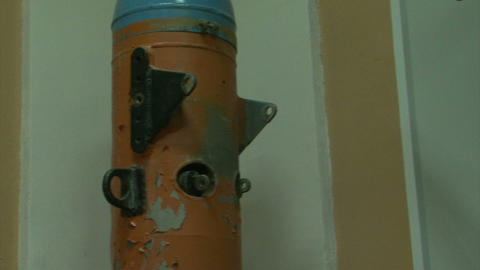 Torpedoes and underwater mines Stock Video Footage