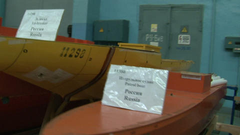 Models of ships Stock Video Footage