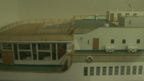 Model of a sea liner Footage