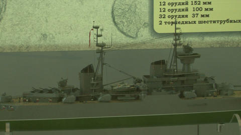 Model of a sea liner Stock Video Footage