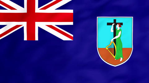 Flag Of Montserrat Stock Video Footage