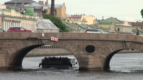 The bridge over the canal Footage