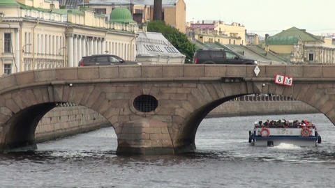 The bridge over the canal Stock Video Footage