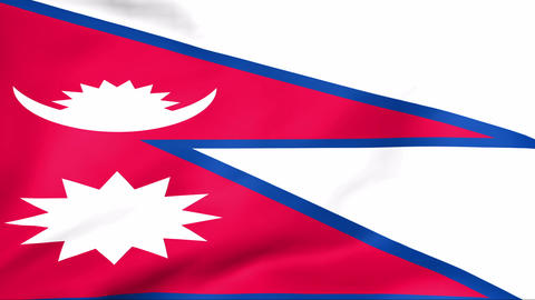 Flag Of Nepal Stock Video Footage
