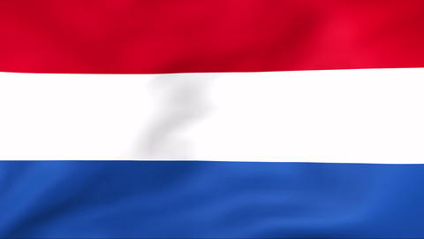 Flag Of Nederland Stock Video Footage