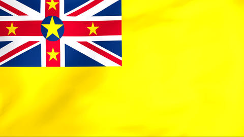 Flag Of Niue Animation