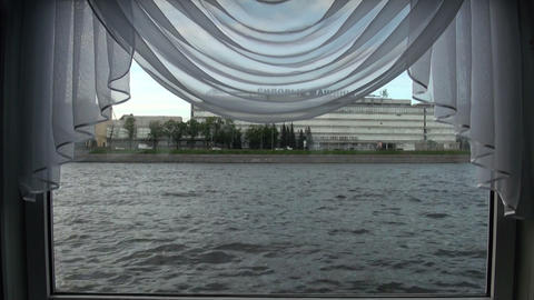 The view from the window on the water Stock Video Footage