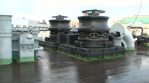 Deck of a ship Stock Video Footage