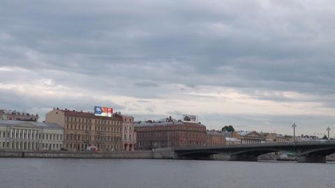 Blagoveshchensky bridge In St. Petersburg Stock Video Footage