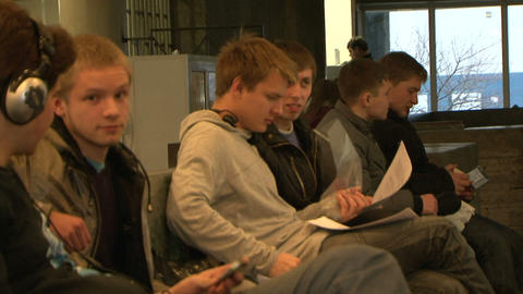 Students at the break Stock Video Footage