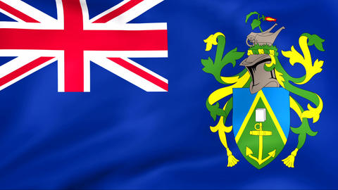 Flag Of Pitcairn Stock Video Footage