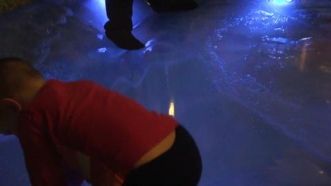 Plastic pool Stock Video Footage