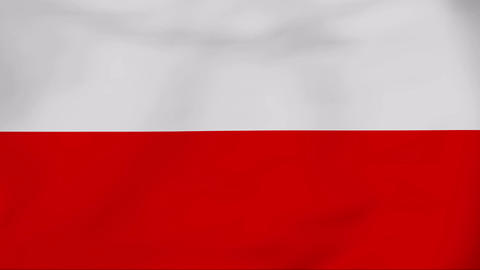 Flag Of Poland Stock Video Footage
