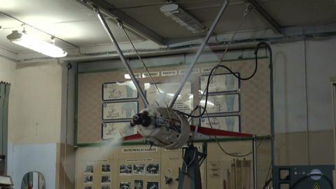 Test airplane propeller Footage