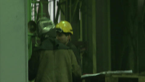 Workers at the factory Stock Video Footage
