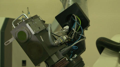 Robot laser cutting Stock Video Footage