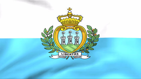 Flag Of San Marino Stock Video Footage