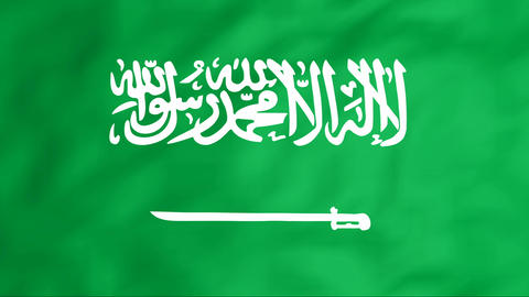 Flag Of Saudi Arabia Stock Video Footage