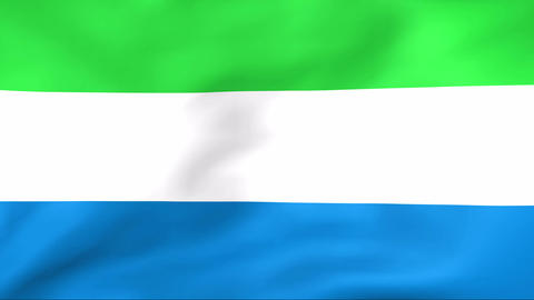 Flag Of Sierra Leone Stock Video Footage