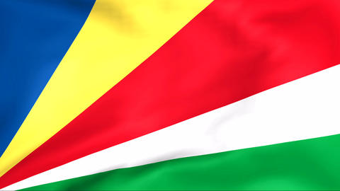 Flag Of Seychelles Stock Video Footage