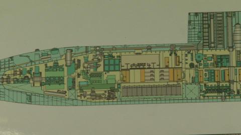 Drawing submarine Stock Video Footage