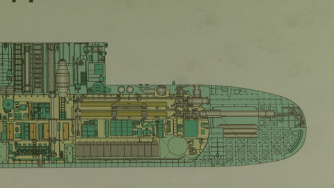 Drawing submarine Footage