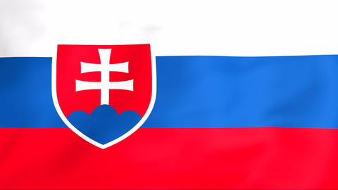 Flag Of Slovakia Stock Video Footage