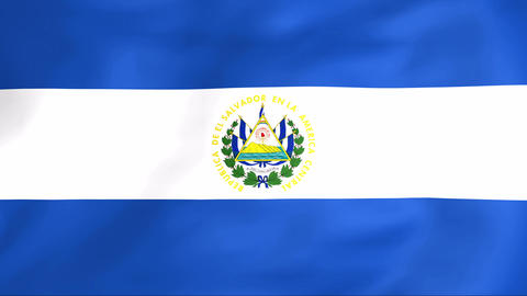 Flag Of Salvador Stock Video Footage