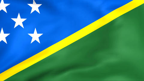 Flag Of Solomon Islands Stock Video Footage