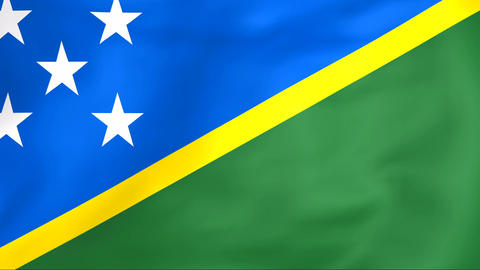 Flag Of Solomon Islands Animation