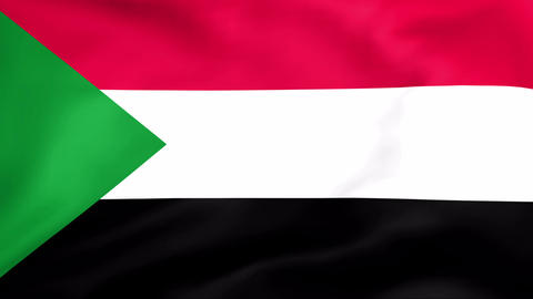 Flag Of Sudan Stock Video Footage