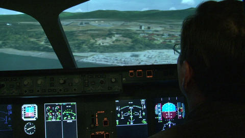 Aviation simulator Footage