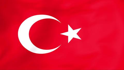 Flag Of Turkey Animation