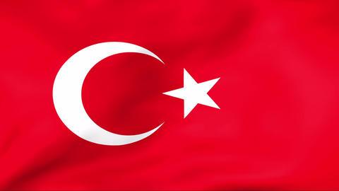 Flag Of Turkey Stock Video Footage