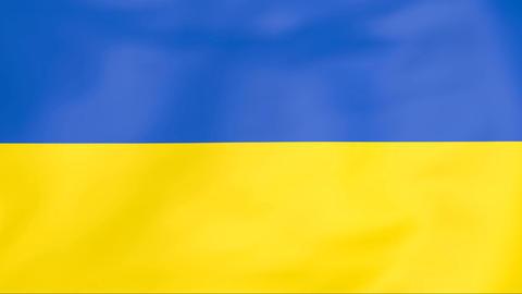 Flag Of Ukraine Animation