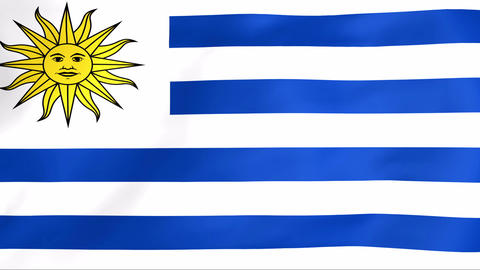 Flag Of Uruguay Animation