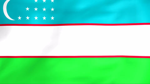 Flag Of Uzbekistan Animation