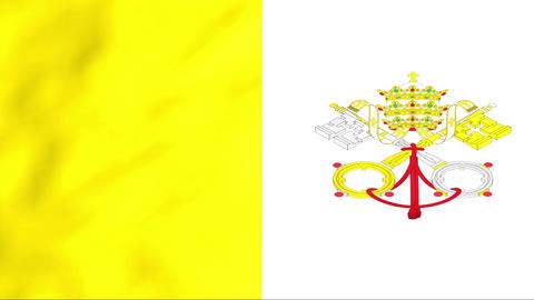 Flag Of Vatican Stock Video Footage