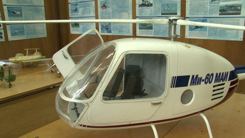 The model of the helicopter Stock Video Footage