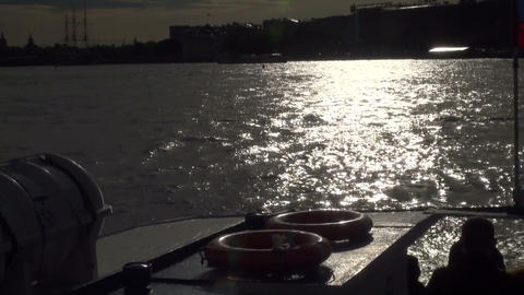 Sunset on the river Footage