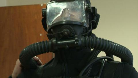 Combat diver Stock Video Footage