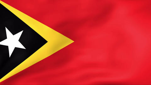 Flag Of East Timor Stock Video Footage