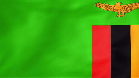 Flag Of Zambia Animation