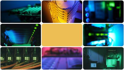 Communication hardware. Loop Stock Video Footage