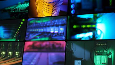 Communication hardware. Montage Stock Video Footage