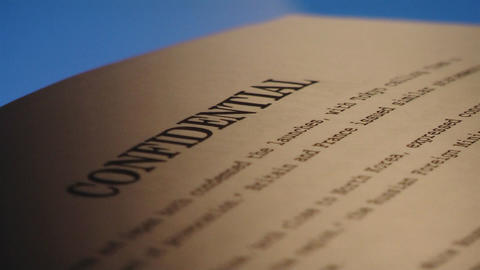 Confidential documents Stock Video Footage