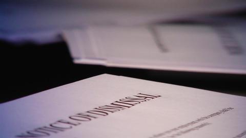 Dismissal notice Footage
