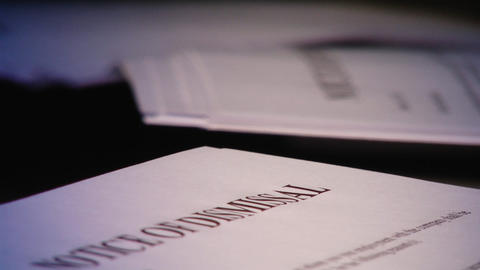 Dismissal notice Stock Video Footage