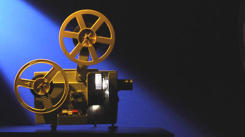 Film projector loop Stock Video Footage