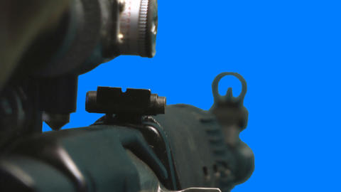 Guns with alpha Stock Video Footage